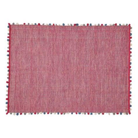 alfombra fucsia alfombra fucsia de algod 243 n 120 215 180 cm pompon maisons