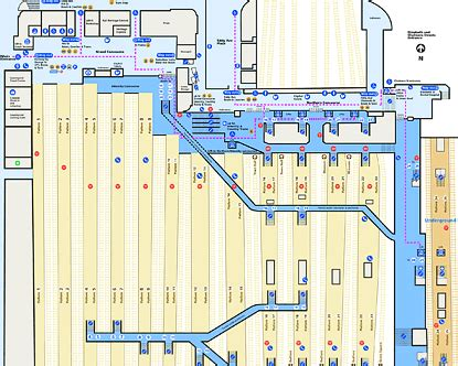 Beach House Rentals Victoria - central station map layout of central station