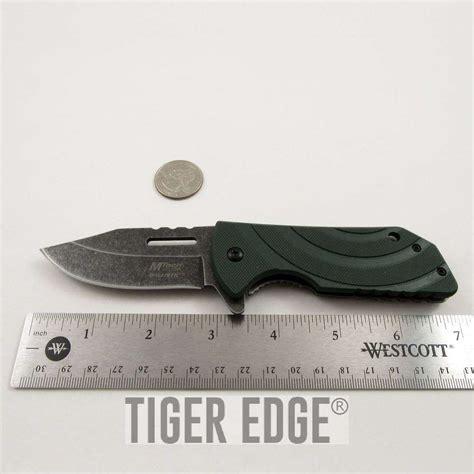 slim knives mtech slim profile everyday carry edc green