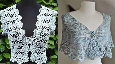 www tejidos en croche boleros tejidos a crochet dise 241 os youtube