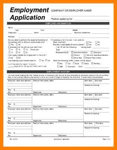 Printable Job Application Templates Free Printable Employment Application Daycare Daycare Employment Application Template