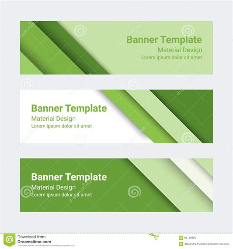 business card template 10 per sheet horizontal material design banners set of modern colorful horizontal