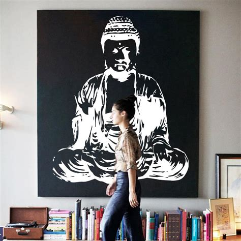 buddha wall decal cute vinyl sticker home arts wall decals art new design indian buddha religion wall decal removable