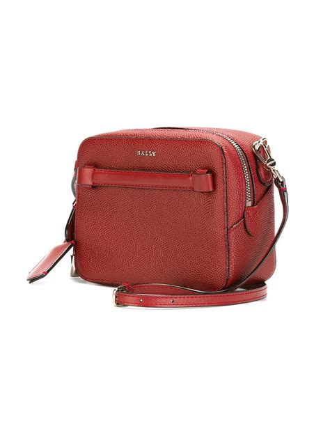 lyst bally small alford shoulder bag in
