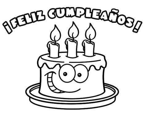 imagenes que digan feliz cumpleaños mamá para colorear 54 tarjetas de fel 237 z cumplea 241 os para pintar y regalar