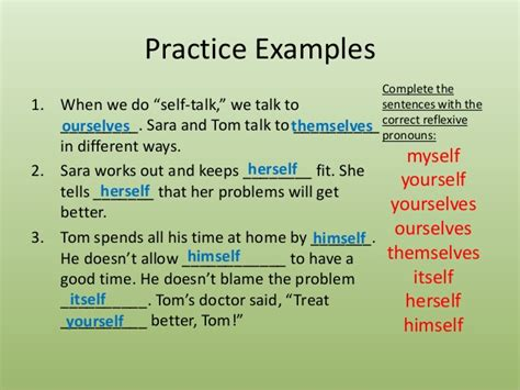 selves in a sentence unit 27 reflexive and reciprocal pronouns