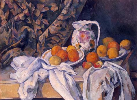 still life with drapery still life with a curtain paul cezanne hermitage museum