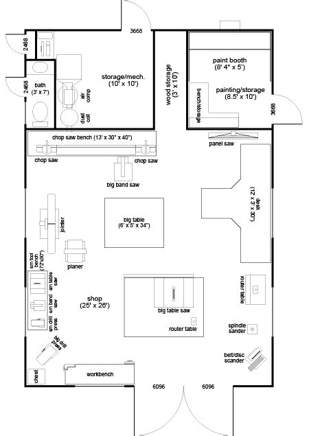 woodworking shop floor planswoodworker plans woodworker