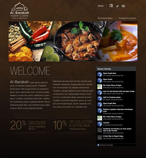restaurant website layout design indian restaurant web design by mostofa on deviantart