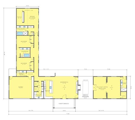 L Shaped Duplex Plans | l shaped bungalow house plans pinterest l shaped house