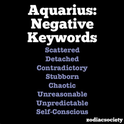 aquarius negative traits aquarius pinterest negative