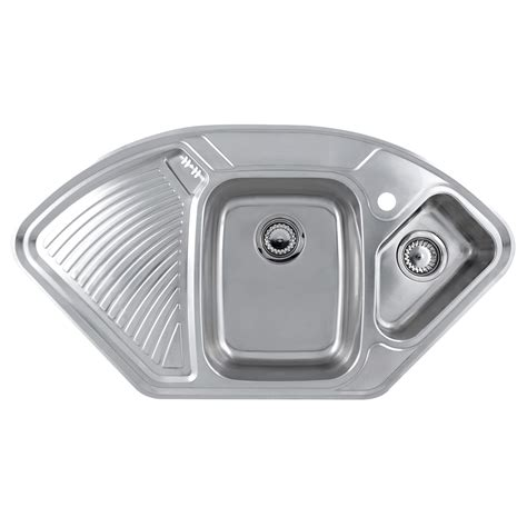 corner kitchen sinks uk astacast lausanne 1 5 stainless corner sink sinks taps com