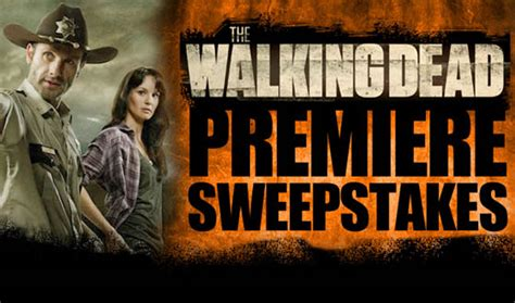 blogs the walking dead win a trip for two to the walking dead premiere and a - Twd Sweepstakes