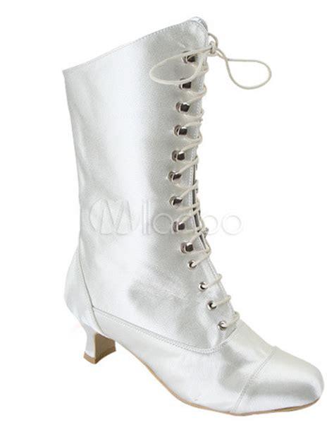 Flache Weiße Schuhe Hochzeit by Schicke Damen Hochzeit Stiefel Mit Schn 252 Ren In