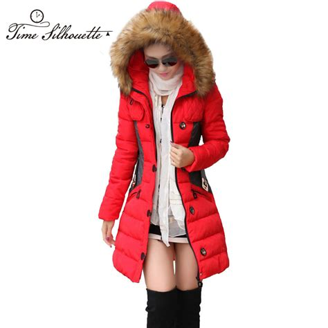 promotion women medium long winter parkas giraffe pattern online get cheap hooded long coat aliexpress com