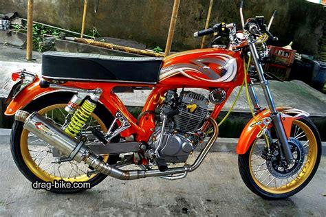 Stang Motor Modifikasi by 51 Foto Gambar Modifikasi Motor Cb 100 Terbaik Kontes Drag