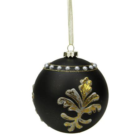 black gold christmas ornaments 4 5 quot black and gold style glass ornament walmart