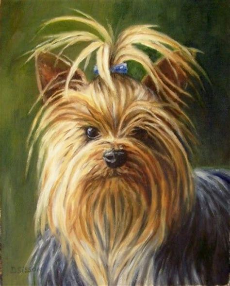 original yorkshire terrier a yorkies s gaze oil painting dog pet art portrait