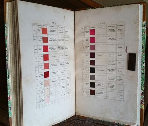 color guide nomenclature of colours uses nature in color descriptions