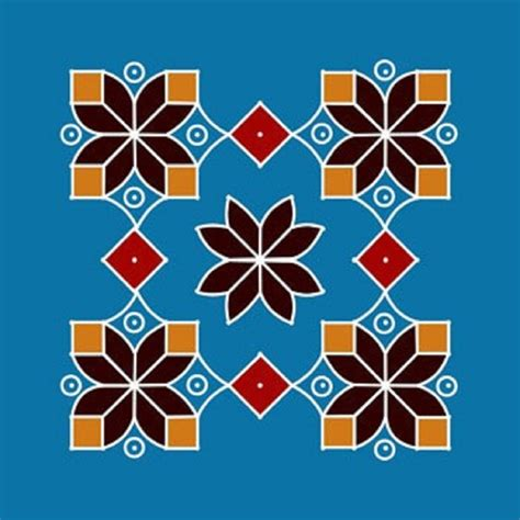 rangoli pattern using shapes dot rangoli designs for new year