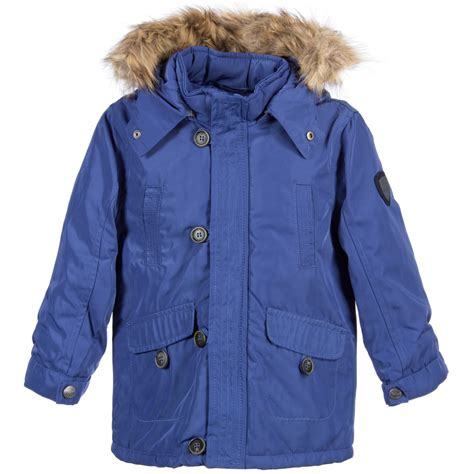 light blue boys mayoral boys parka light blue coat with fur