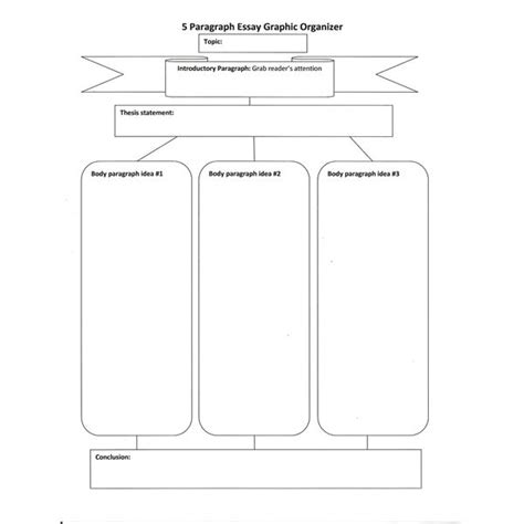 printable essay planner five paragraph essay graphic organizers for teachers to use