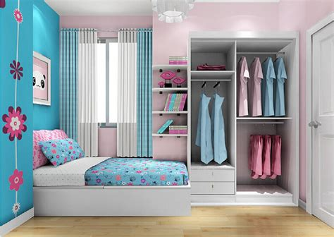 blue and pink bedroom home decor interior exterior
