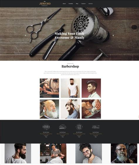 Barber Shop Website Templates Themes Free Premium Free Premium Templates Free Barber Shop Website Template