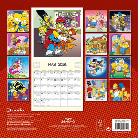 2018 the simpsons calendar year in a box the simpsons calendars 2018 on abposters