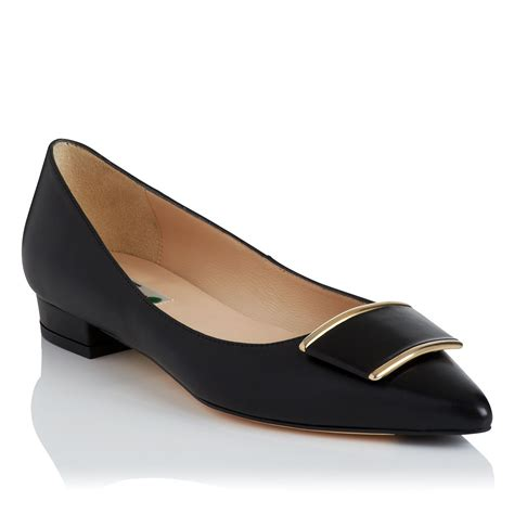 lk flat shoes l k amelia flat shoes in black lyst