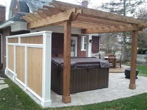 pergola ideas for privacy 25 best ideas about tub pergola on tub privacy tub patio and tub