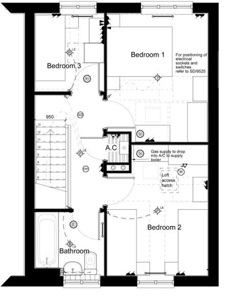 uk house floor plans 3 bedroom end of terrace house for sale in hunts grove