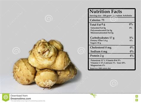root vegetable nutrition nutrition facts of jerusalem artichoke stock photo image