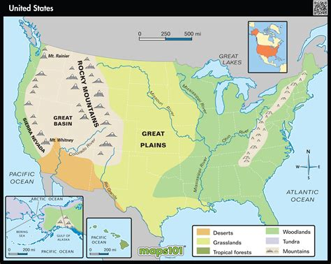 physical map of usa with states primary level united states physical map maps