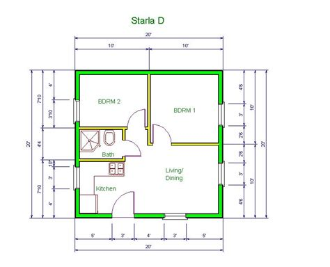 Garage With Apartments Plans by 20 X20 Apt Floor Plan Starla Model Quot D Quot Floor Plan 20 X