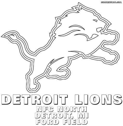 coloring pages detroit lions nfl logos coloring pages coloring pages to download and