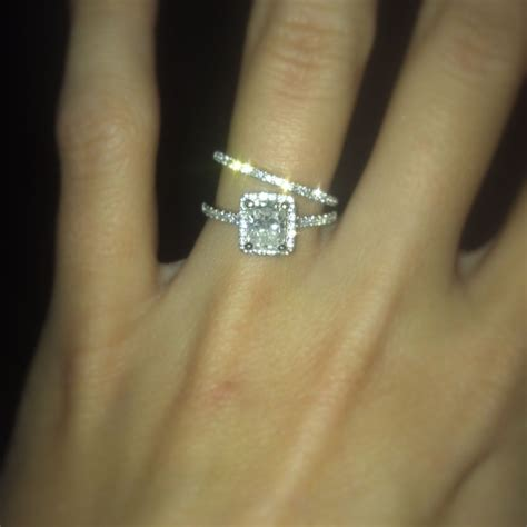 cushion cut engagement ring with halo matching