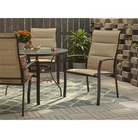 stackable outdoor dining chairs hton bay mix and match stackable oversized metal