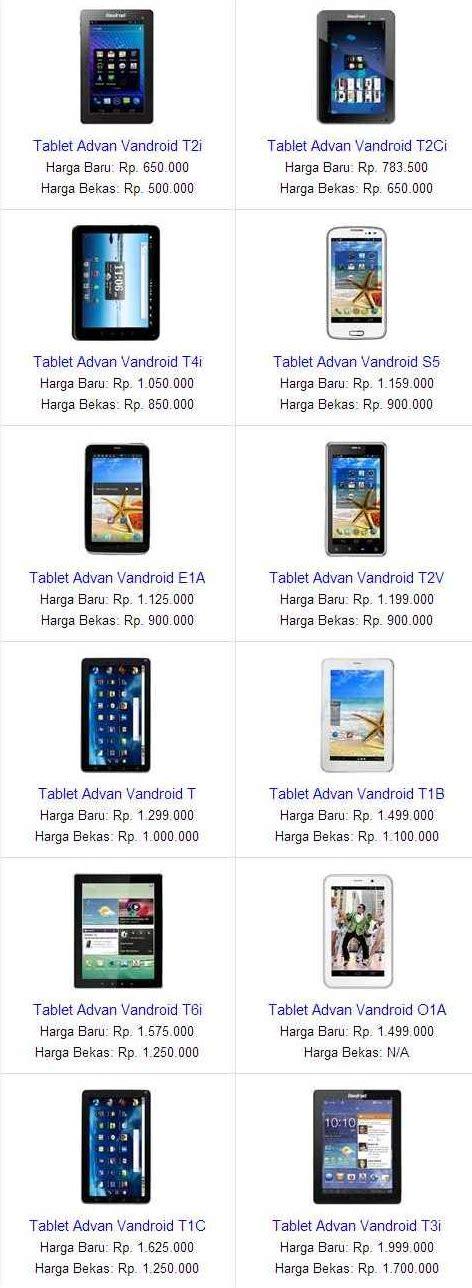 Tablet Terbaru Advan harga tablet advan terbaru bulan agustus 2013 daftar