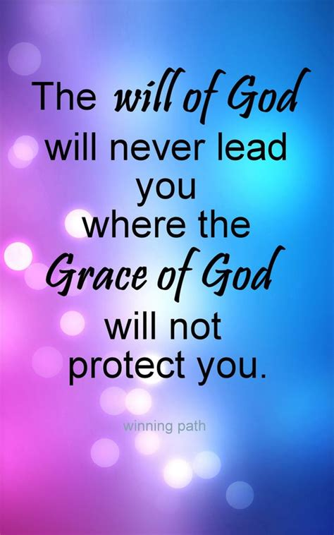 god s grace is on the way let go embrace books the will of god will never lead you where the grace of god