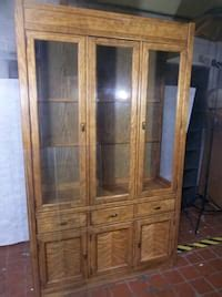 large stanley furniture solid wood dining room hutch
