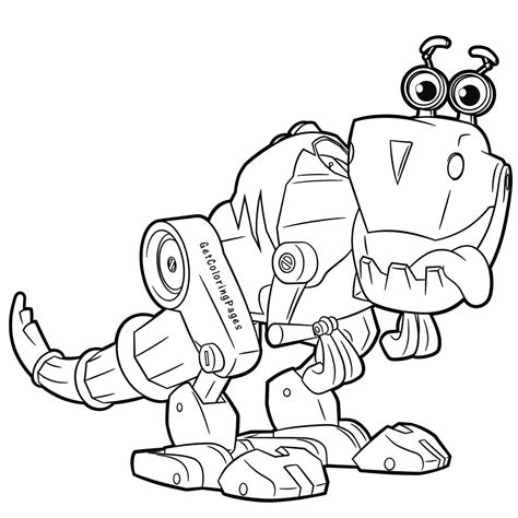 dinosaur robot coloring page cute robot from rusty rivets coloring page robot dinosaur