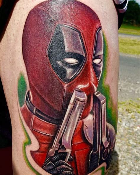 deadpool tattoos 70 dashing deadpool designs redefining deadpool