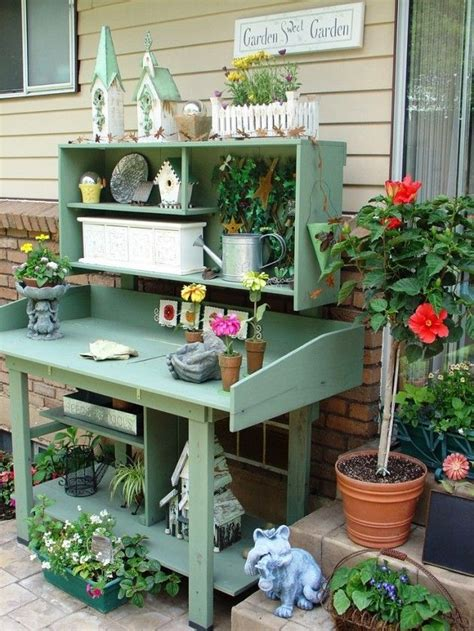 outdoor potters bench 25 cool diy garden potting table ideas work bench garage pinterest gardens