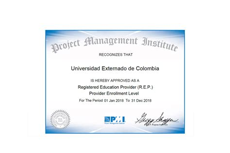 Pm Certificate And Mba by Administraci 243 N De Empresas Universidad Externado De Colombia