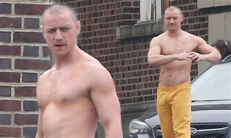james mcavoy muscles shirtless james mcavoy spotted on set of glass daily