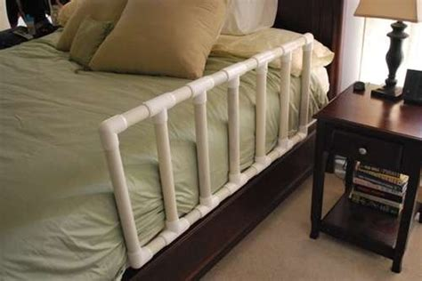 diy bed rail pvc pipe child bed rail diy projects pinterest