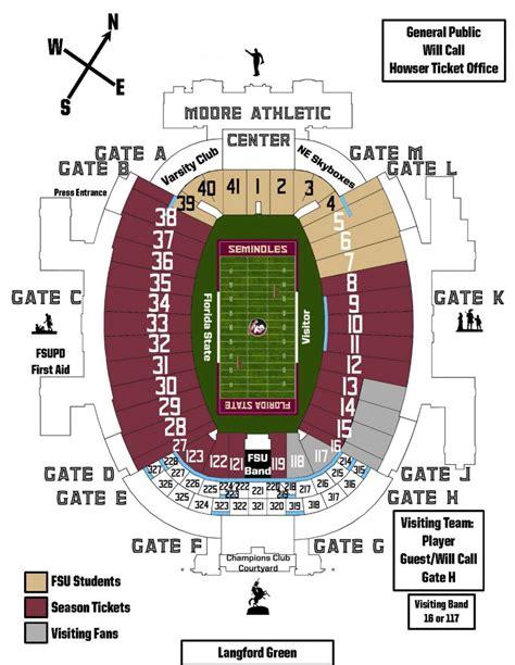 florida state stadium seating chart doak cbell stadium information