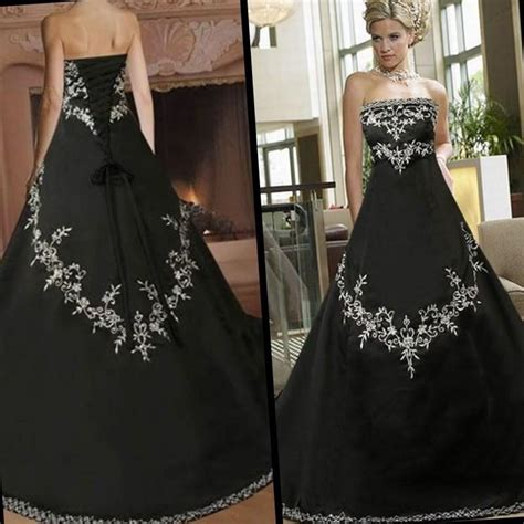 gothic black red gold metallic corset bride embroidered dress steam gothic wedding dresses plus size pluslook eu collection