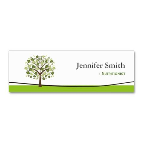 nutritionist business card templates dietitian nutritionist wishing tree of hearts mini